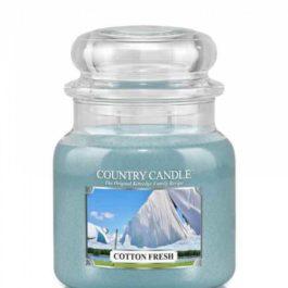 Country Candle Cotton Fresh Średni słoik 453g