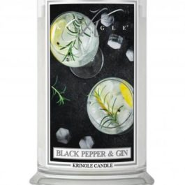 KRINGLE CANDLE Black Pepper & Gin DUŻA ŚWIECA 623G
