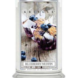 KRINGLE CANDLE Blueberry Muffin Duża Świeca 623g