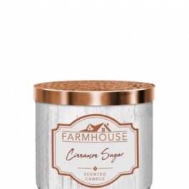 Kringle Candle Cinnamon Sugar Farmhouse Tumbler 411g 3 knoty