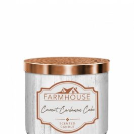 Kringle Candle Coconut Cardamom Cake Farmhouse Tumbler 411g 3 knoty