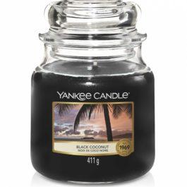 Yankee Candle BLACK COCONUT Średnia Świeca 411g