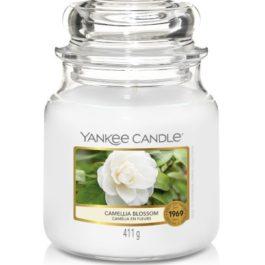 Yankee Candle CAMELLIA BLOSSOM Średnia Świeca 411g